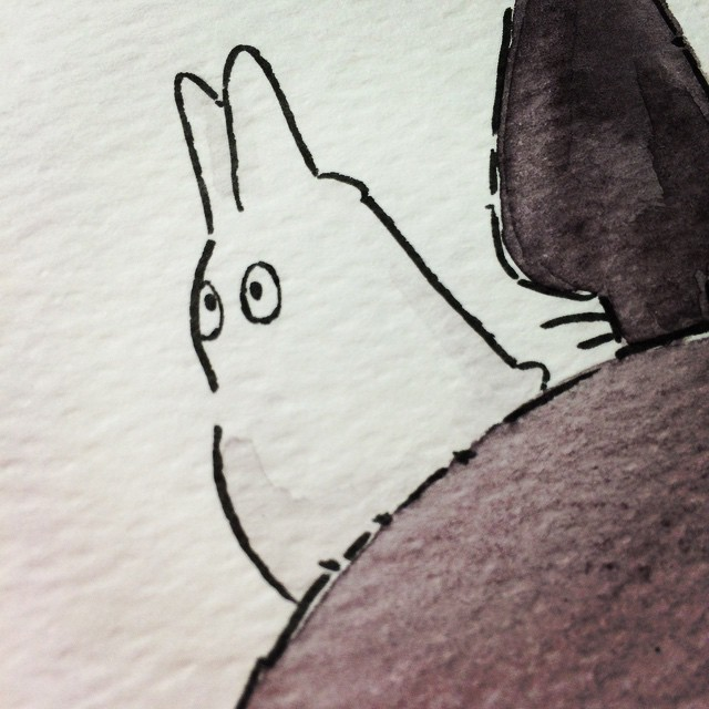 Illustration Aquarell Totoro