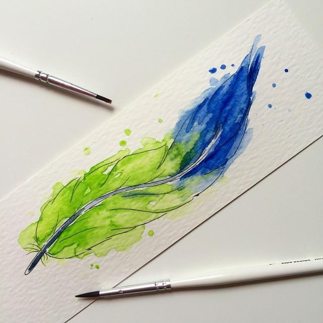 Illustration Aquarell Feder