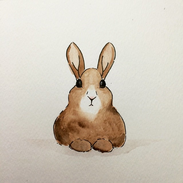 Illustration Aquarell Hase