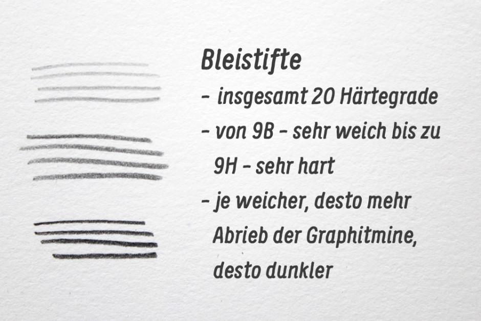 Bleistifte Härtegrade