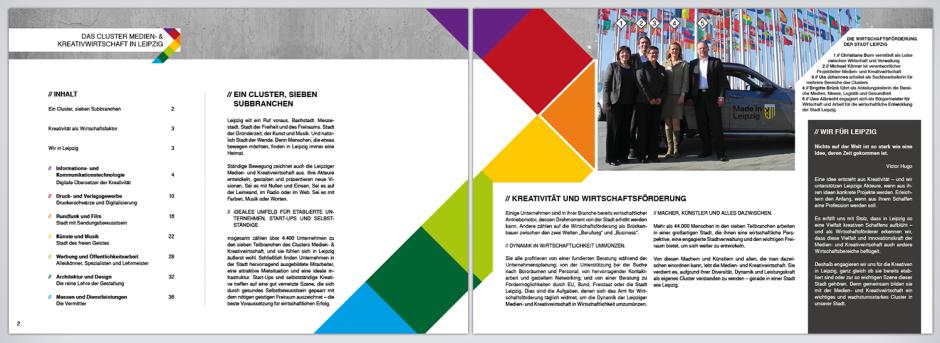 Broschüre Kultur- und Kreativwirtschaft Leipzig