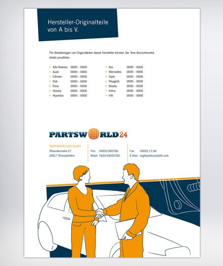 Geschäftsausstattung: Partsworld