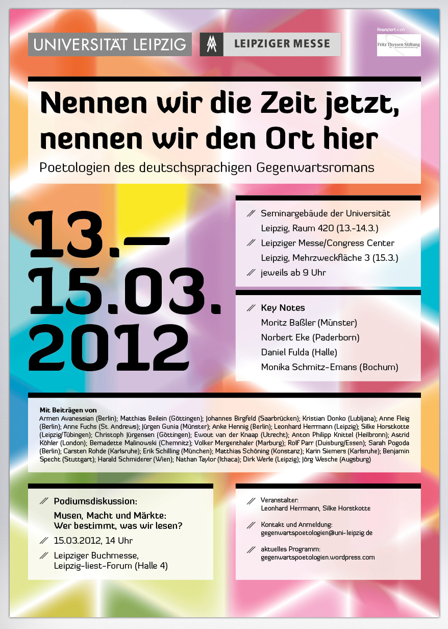 Grafikdesign Plakat Universität Leipzig