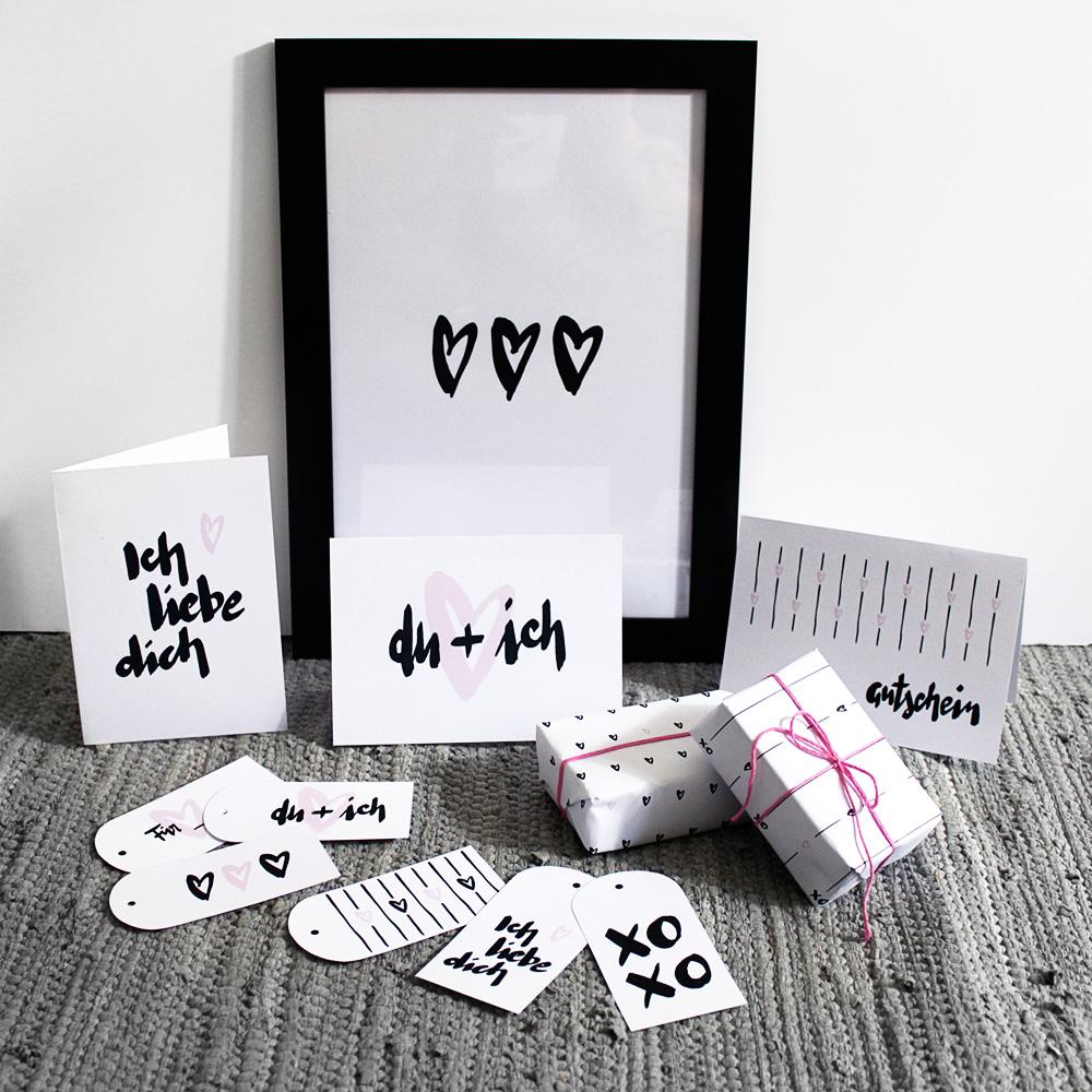 Printables für den Valentinstag