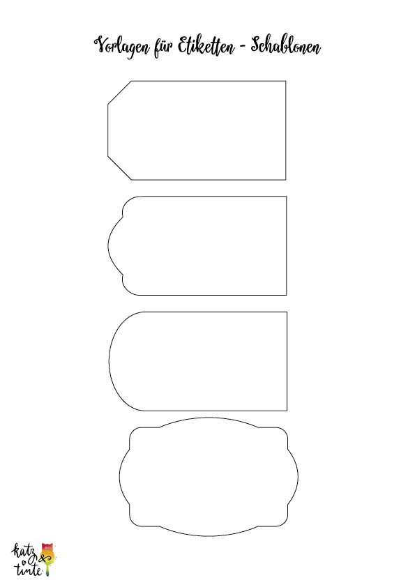 DIY: Chalkboard Lettering Tutorial - Etiketten   Katz & TinteKatz ...