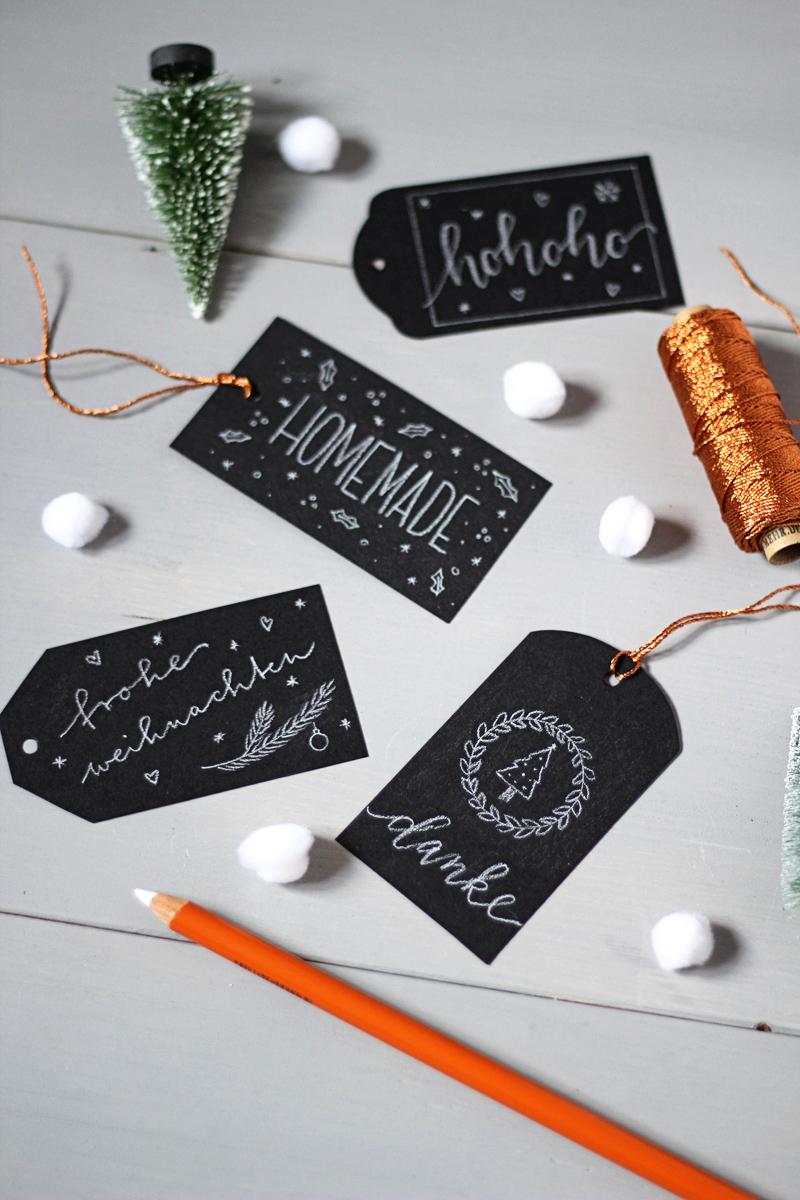 Chalkboard Lettering Etiketten DIY Anleitung 3