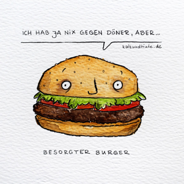 Besorgter Burger Comic