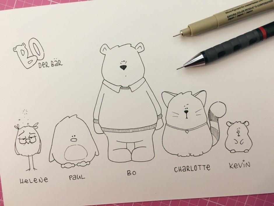 Bo der Bär - Characterdesign