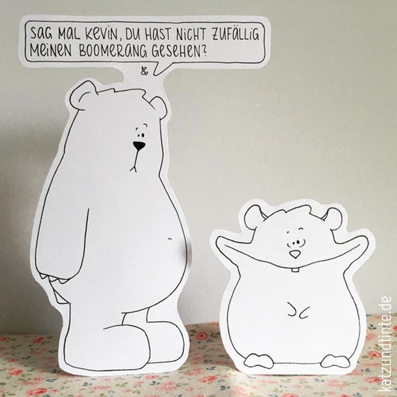 Characterdesign Bo der Bär von katz & tinte